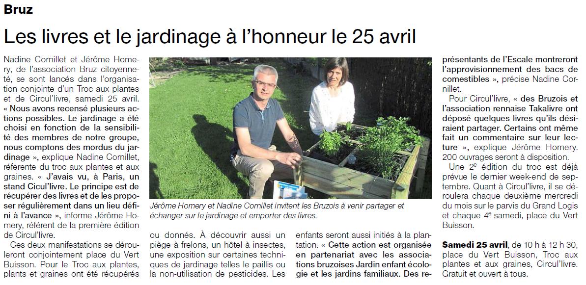 Samedi bruz les livres et le jardinage l 39 honneur - Livre sur le jardinage ...